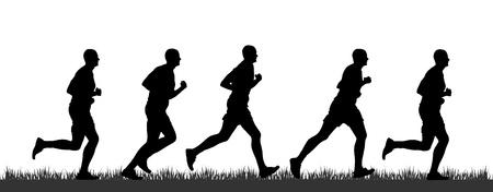 Silueta běžec Reklamní fotografie