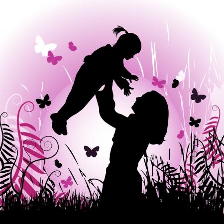 paz mundial: Familia feliz, madre e hijo