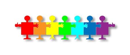 Personnes-puzzle isolé sur un fond blanc Banque d'images - 15350566