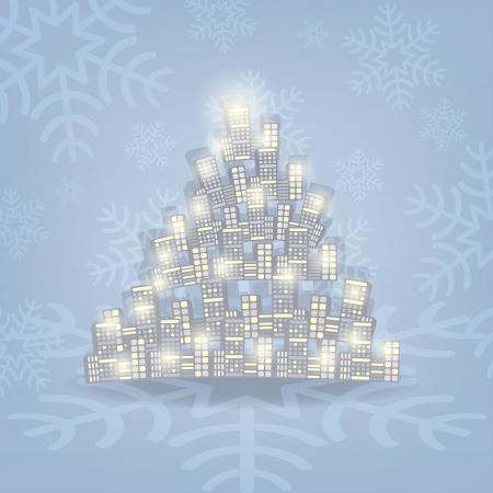 Vánoční strom ilustrace Vánoční karta