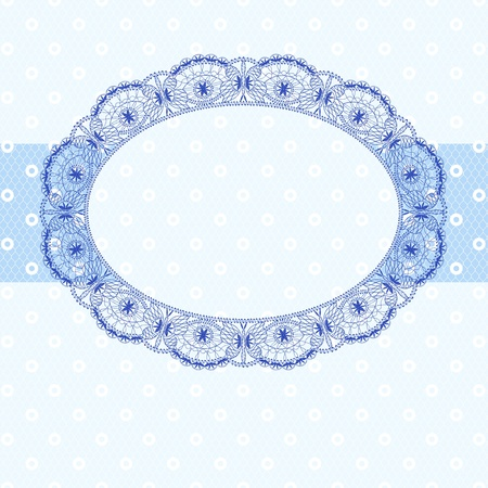 pastel shades: blue lace frame, pastel shades