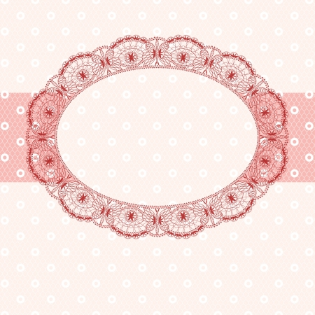 pink lace frame, pastel shades