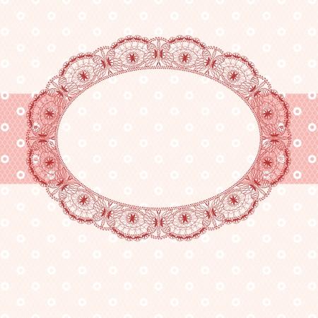 pastel shades: pink lace frame, pastel shades