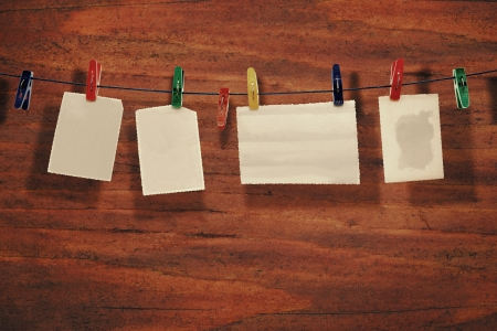 adjuntar: Papel fotogr�fico adjuntar a la cuerda con ganchos de ropa