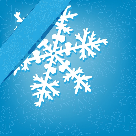 Christmas background with snowflake  Stock Photo - 16156168