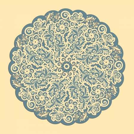 cake decorating: Ornamental round lace frame  Background for celebrations, holidays, sewing, arts, crafts, scrapbooks, setting table, cake decorating  Lace doily