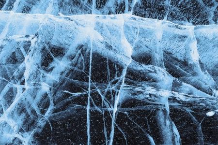 cracks in ice: Beautiful ice of Lake Baikal with abstract cracks