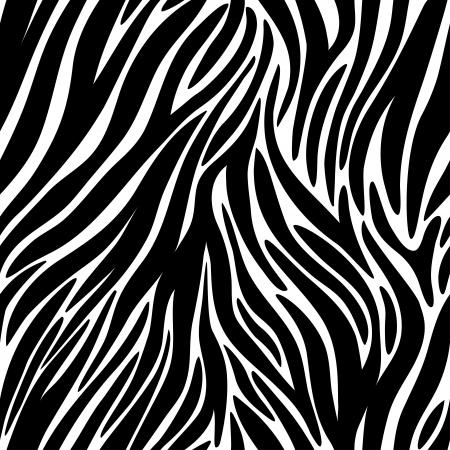 huella animal: Ilustraci�n vectorial de patr�n de cebra sin costura