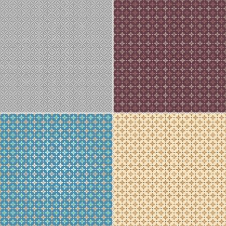 Set seamless wallpaper pattern, vector illustration illustration