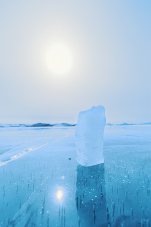 wintery day: Little piece of ice, Lake Baikal  in Siberia