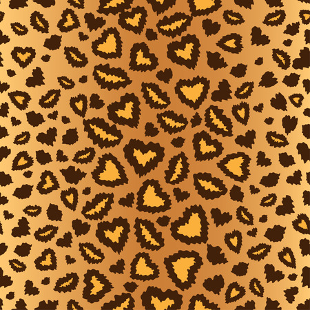 leopard skin seamless background, vector Vector