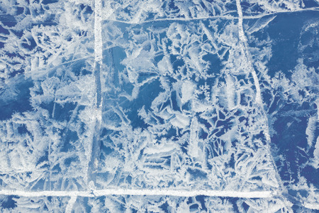 interstice: Blue Texture of winter ice