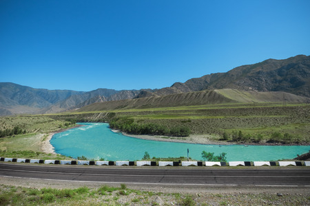 katun: Katun River summer afternoon, Altai Mountains