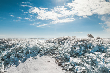 global cooling: Pile of rubble ice, similar gems Stock Photo