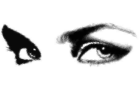 human eye beauty woman vector illustration Banco de Imagens