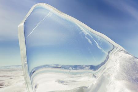 sopel lodu: Czysta sopel zima Bajkału Zdjęcie Seryjne