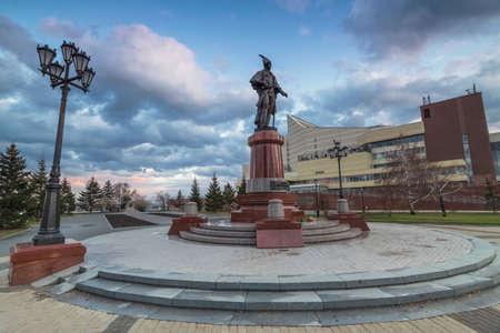 Krasnoyarsk, Russia - October 29, 2020: memorial complex Éditoriale