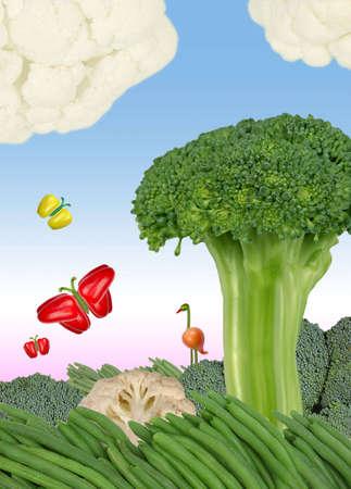 Hortalizas frescas en la forma de la naturaleza