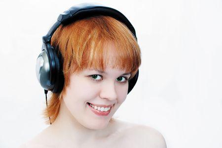 girl in head-phones Stock Photo - 339112