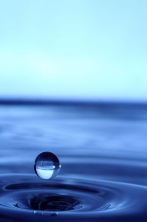 abstract water drop photo