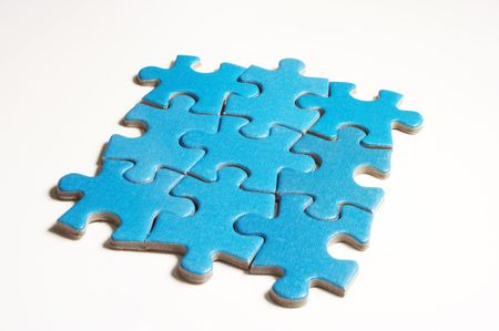 puzzle on white Stock Photo