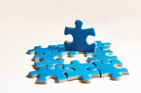 puzzle on white photo