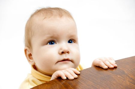 portraiture: baby and chair