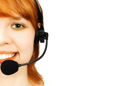 girl operator Stock Photo - 441309