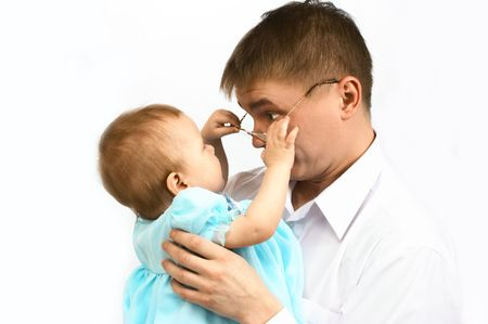 portraiture: father and baby