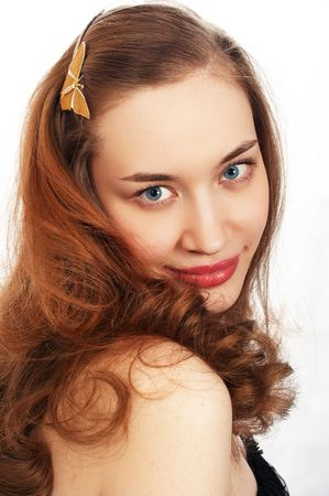 young beauty girl portrait photo
