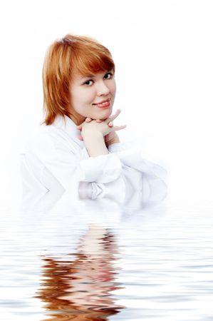 beauty girl in water