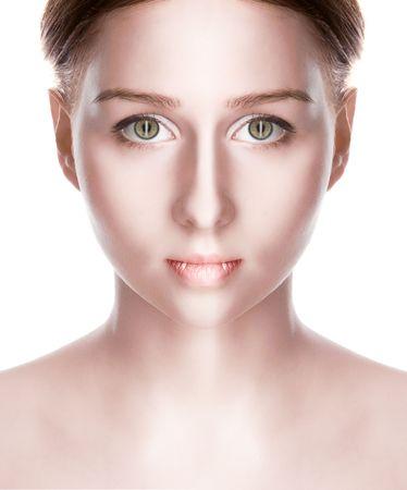 attractiveness: belleza vampiro con los ojos verdes m�s blanco