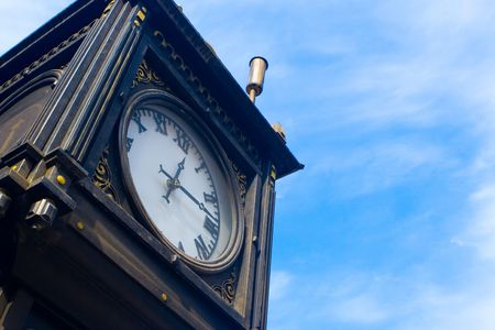 numerate: Ancient hours on a background of the blue sky