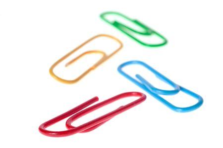 multi colors: paperclip multi colors on white