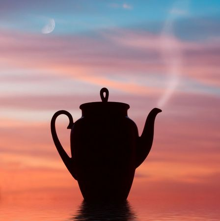 stand teapot: ������ Stock Photo