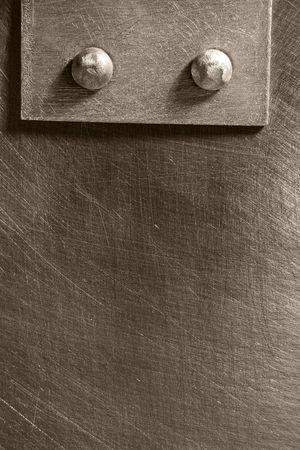 ironmongery: costura clavada en la hoja rasgu�ada metal