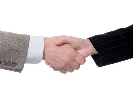 handshake business people isolated over white background Stock Photo - 999642