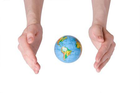 bodyscape: hand care Earth globe