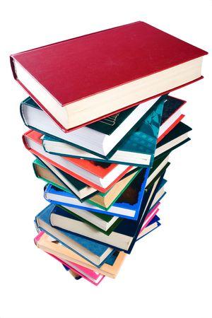 pile of books: libri palo isolato su sfondo bianco