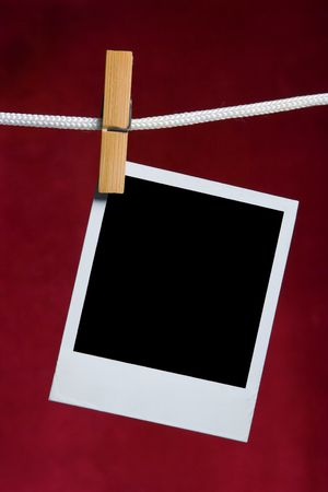 załączyć: stare zdjęcia ramkę dołączyć do liny na czerwony spinacz do bielizny