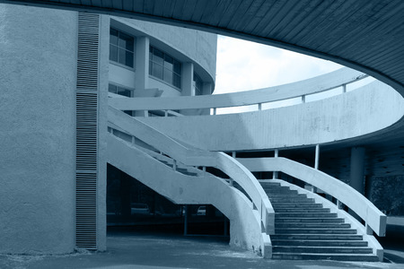 abstract business building in blue photo
