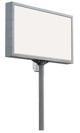 white billboard isolated over white Stock Photo - 1398299