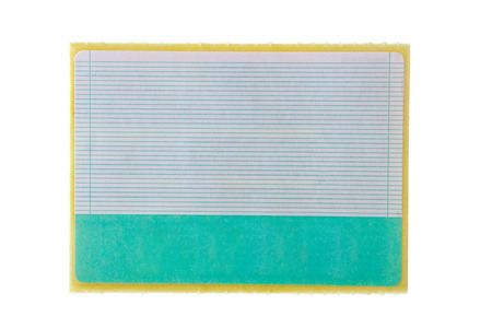 paper sticker with striae over white Stock Photo - 1398503
