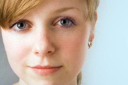 spa beauty girl close-up portrait on blue Stock Photo - 1398535