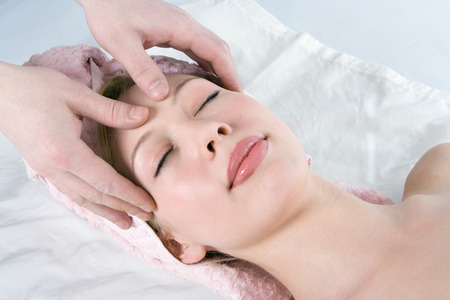 spa facial massage for beauty girl