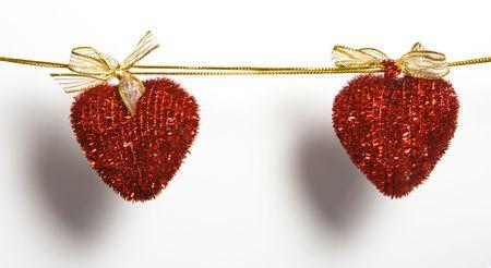 adjuntar: corazones en cuerda acople clavija de ropa
