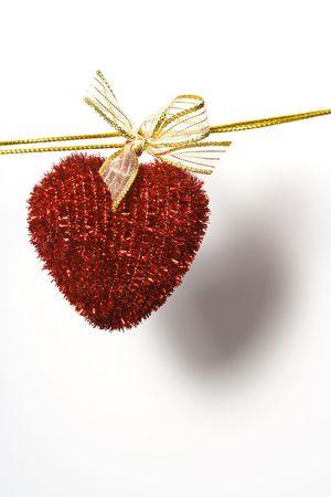adjuntar: coraz�n en la cuerda adjuntar ropa-peg