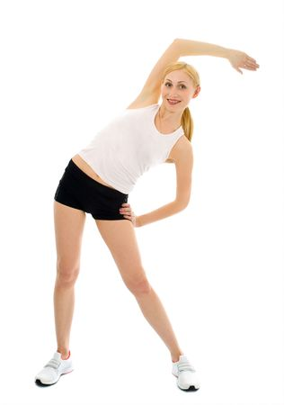 sporty woman over white background Stock Photo - 2335513