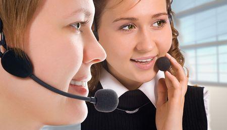 women operators team in interior photo