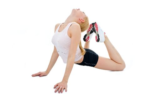 fitness young woman Stock Photo - 2495600